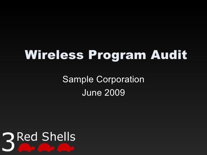 Wireless Program Audit Sample Corporation June 2009