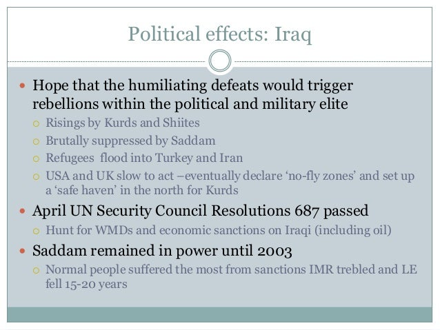 Persian gulf war causes and effects