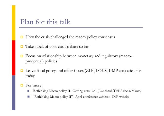 rethinking macro policy ii getting granular Current information and listing of economic research for giovanni dell'ariccia with repec short  rethinking macro policy ii getting granular, imf staff.