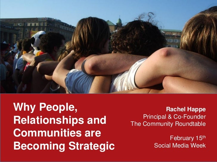 Why People,                       Rachel Happe                         Principal & Co-FounderRelationships and    The Comm...