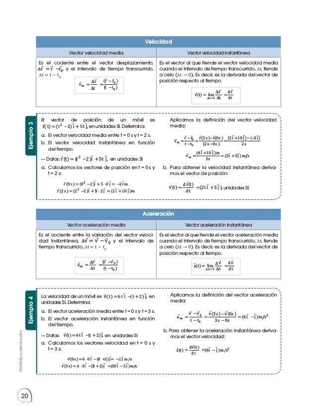 Prohibidasureproducción 20 El vector de posición de un móvil es r t t i t j,( ) ( 2) 52 = − + en unidades SI. Determina: a...