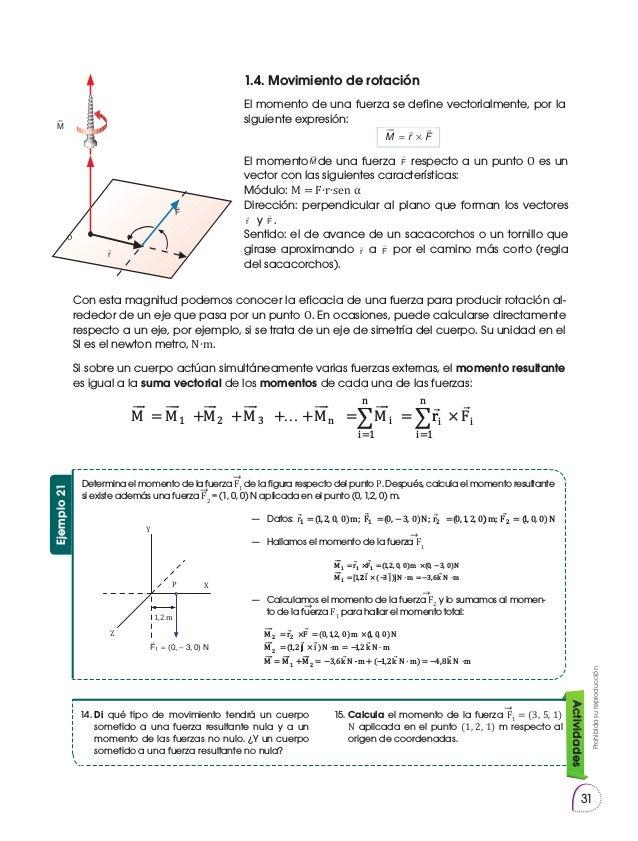 Prohibidasureproducción 31 Determina el momento de la fuerza F1 de la figura respecto del punto P. Después, calcula el mom...