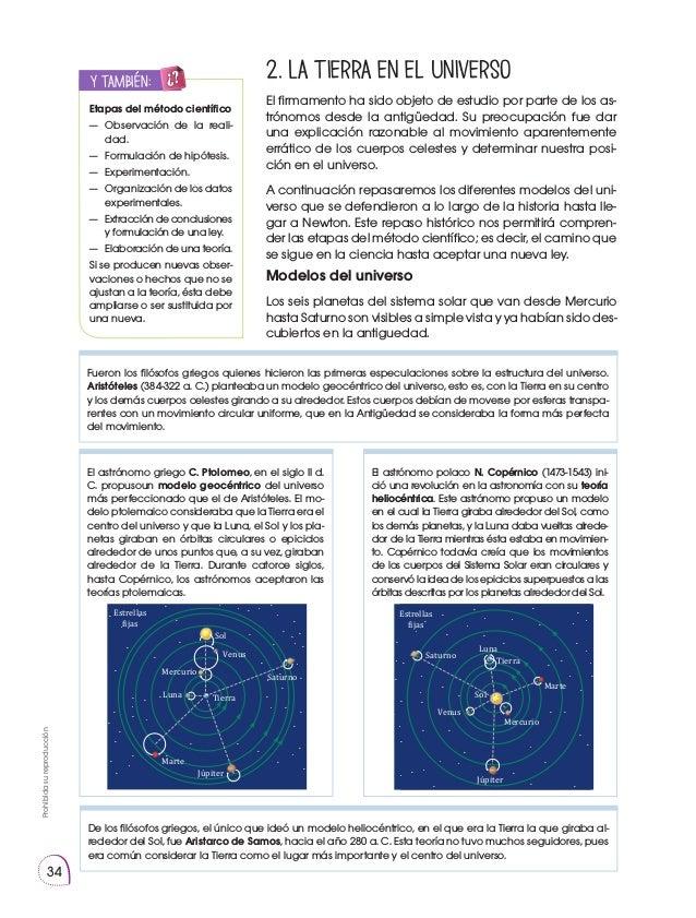 Prohibidasureproducción 34 2. La Tierra en el universo El firmamento ha sido objeto de estudio por parte de los as- trónom...