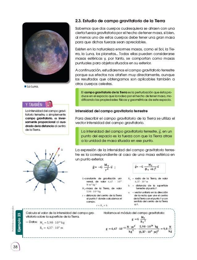Prohibidasureproducción 38 2.3. Estudio de campo gravitatorio de la Tierra Sabemos que dos cuerpos cualesquiera se atraen ...