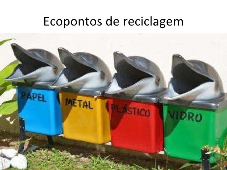 Ecopontos de reciclagem