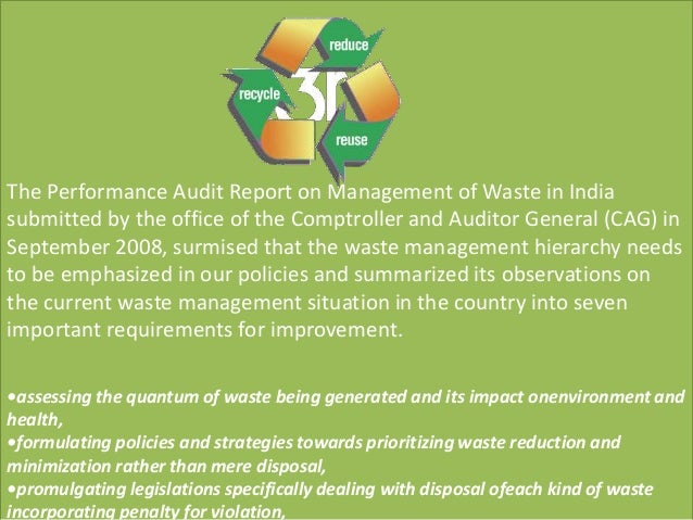 waste management audit failure Environmental management system management audit report not an ems failure waste recyclabl e materials regulate d.
