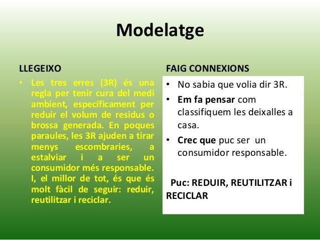 Modelatge LLEGEIXO • Les tres erres (3R) és una regla per tenir cura del medi ambient, específicament per reduir el volum ...