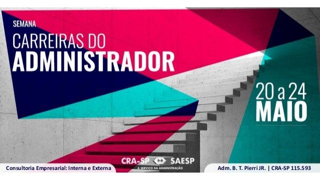 Adm. B. T. Pierri JR.   CRA-SP 115.593Consultoria Empresarial: Interna e Externa