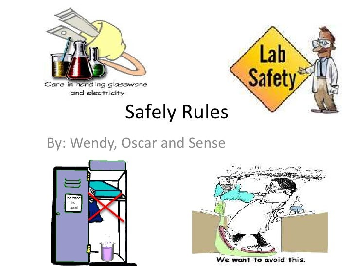 Safely Rules<br />By: Wendy, Oscar and Sense<br />
