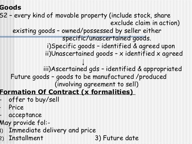 sale of goods act 1957 cases