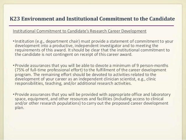Writing the NIH K Award (SF 424): K08-K23 Applications & Individual C…