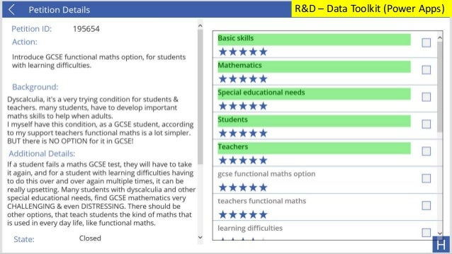 R&D – Data Toolkit (Power Apps)