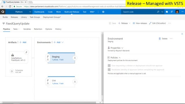 Release – Managed with VSTS