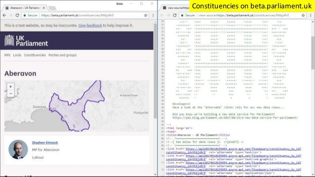 Constituencies on beta.parliament.uk