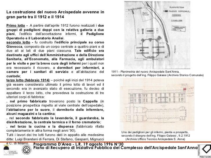 1911 - Planimetria del nuovo Arcispedale Sant'Anna, secondo il progetto dell'ing. Filippo Galassi (Archivio Storico Comuna...