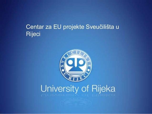 Centar za EU projekte Sveučilišta u Rijeci