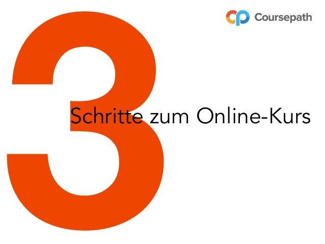 3Schritte zum Online-Kurs