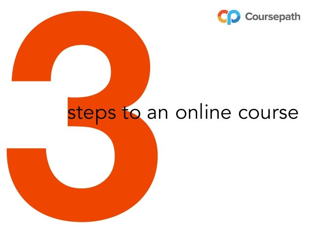 3steps to an online course
