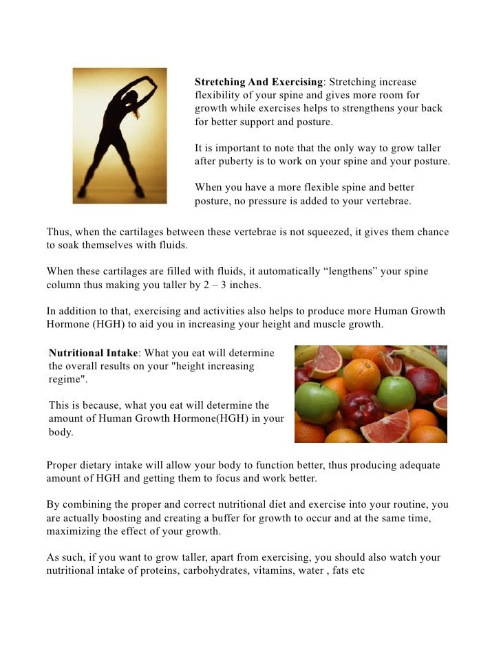 Top 20 Foods and Exercises for How to Increase Height Naturally