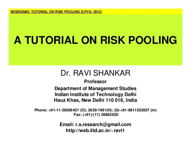 Dr. RAVI SHANKAR Professor Department of Management Studies Indian Institute of Technology Delhi Hauz Khas, New Delhi 110 ...