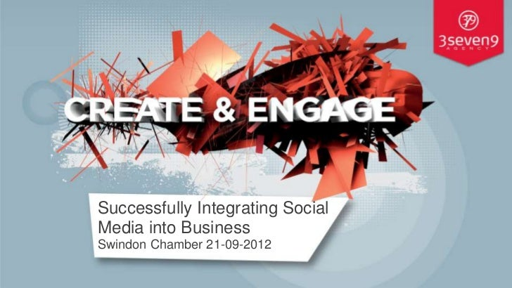 Successfully Integrating SocialMedia into BusinessSwindon Chamber 21-09-2012                                  © 3seven9 Ag...