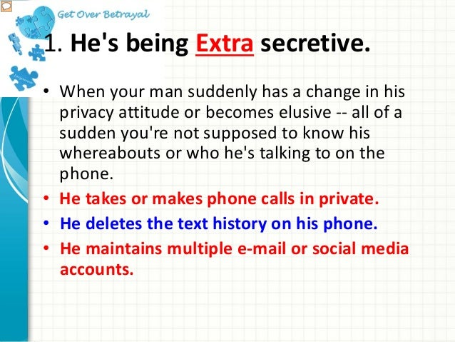 How To Tell If A Man Is Cheating