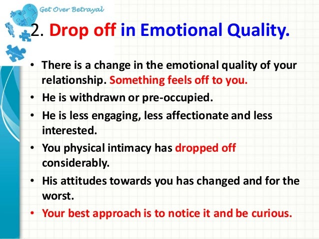 Signs of emotional cheating husband