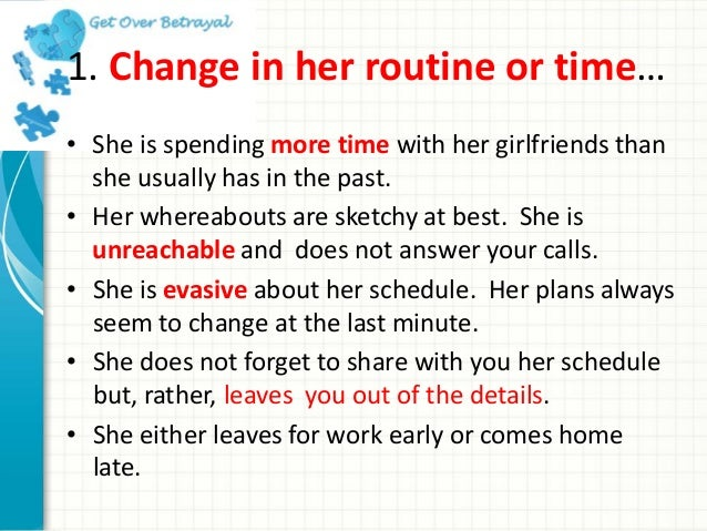 How Do You Know When A Woman Is Cheating