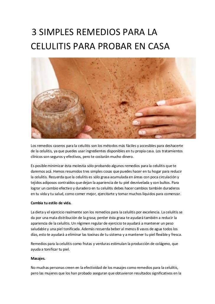 3 simples remedios para la celulitis para probar en casa