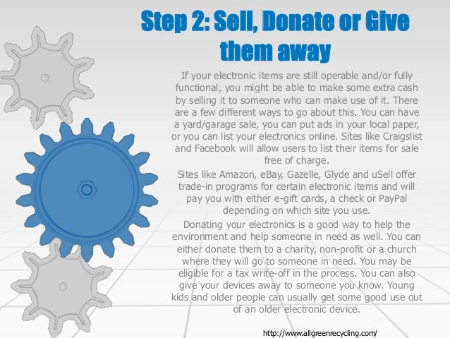 3 simple steps to recycling old electronics for Trading websites like craigslist