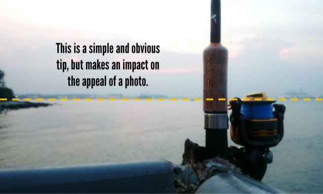 This is a simple and obvious tip,  but makes an impact on the appeal of a photo.