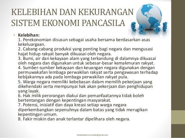 Kelebihan Kekurangan Sistem Ekonomi Indonesia