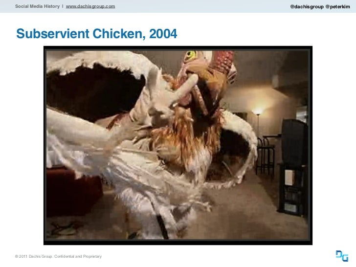 Social Media History | www.dachisgroup.com          @dachisgroup @peterkimSubservient Chicken, 2004® 2011 Dachis Group. Co...