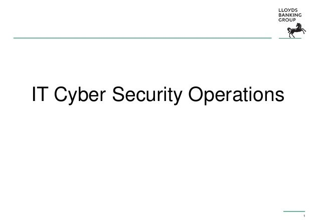 1 IT Cyber Security Operations