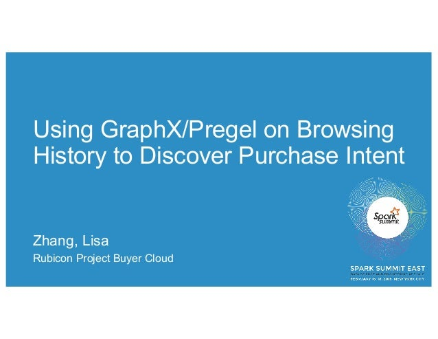 Using GraphX/Pregel on Browsing History to Discover Purchase Intent Zhang, Lisa Rubicon Project Buyer Cloud