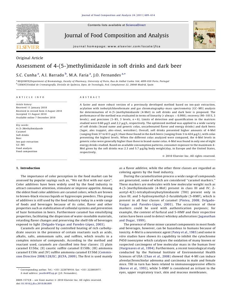 Journal of Food Composition and Analysis 24 (2011) 609–614                                                               C...