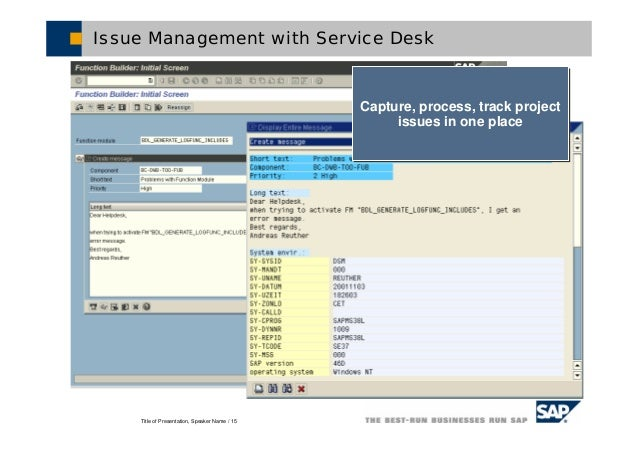 Sap solution manager project is created 15 sciox Choice Image