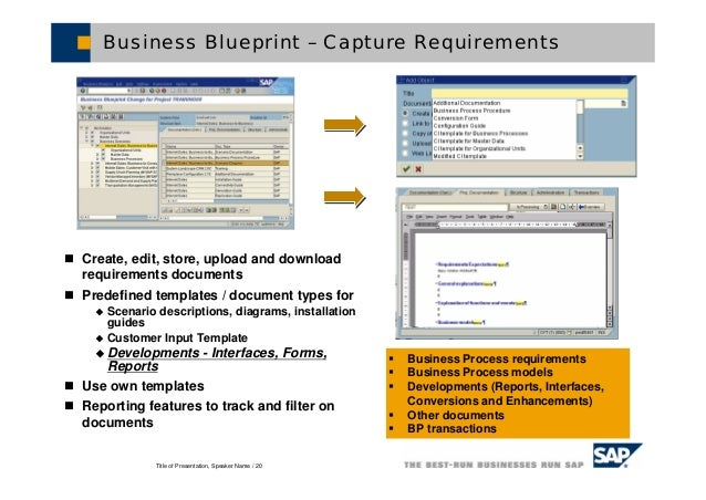 Blue print templates idealstalist sap solution manager malvernweather Gallery