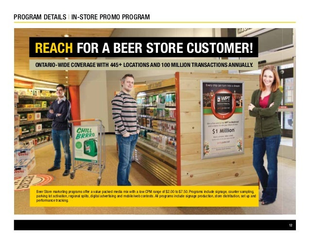 2015 Consumer Marketing Programs The Beer Store