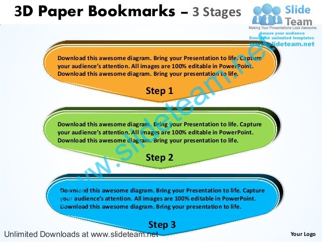 3D Paper Bookmarks – 3 Stages                                                                                 e t         ...