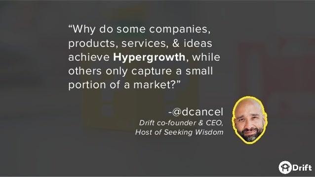 """""""Why do some companies, products, services, & ideas achieve Hypergrowth, while others only capture a small portion of a ma..."""