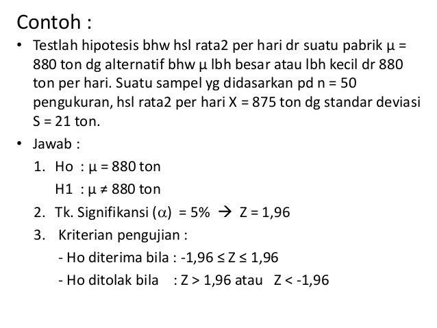 Statistika Uji Hipotesis