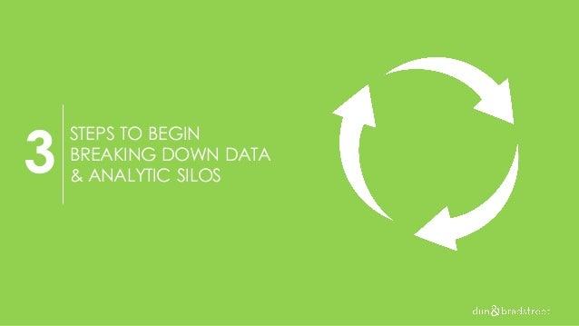 STEPS TO BEGIN BREAKING DOWN DATA & ANALYTIC SILOS 3