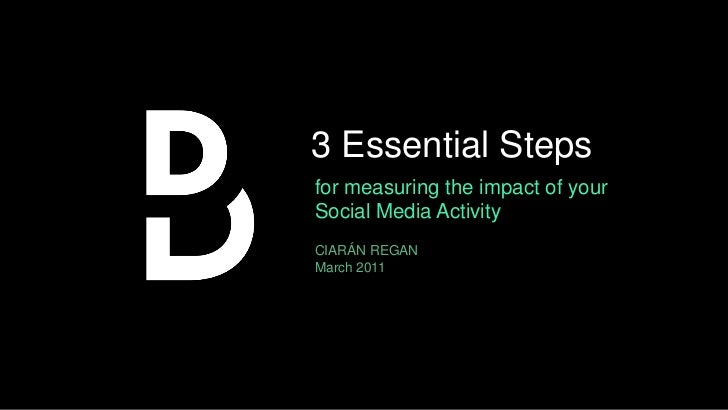 3 Essential Steps<br />for measuring the impact of your Social Media Activity<br />CIARÁN REGANMarch 2011<br />