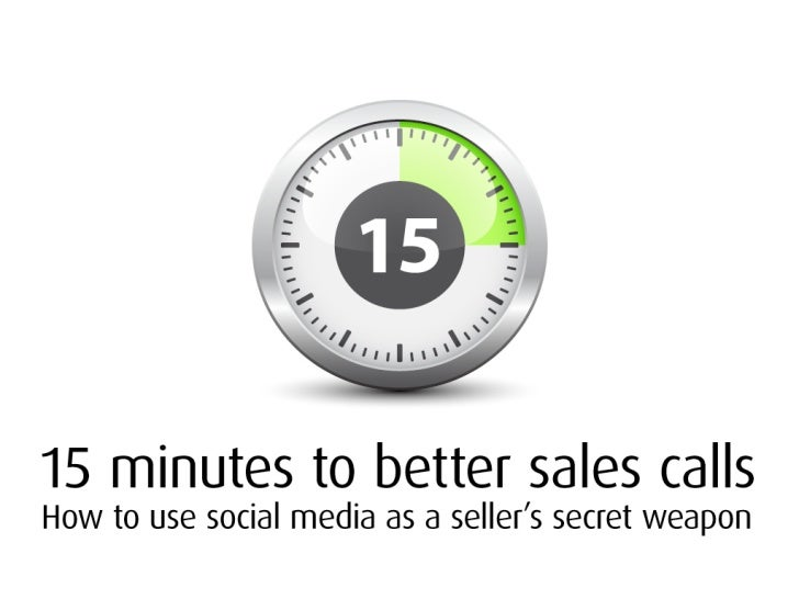 Better Sales Calls - in 15 Minutes (or less)