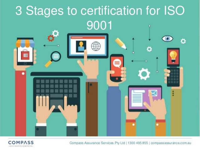 Compass Assurance Services Pty Ltd | 1300 495 855 | compassassurance.com.au 3 Stages to certification for ISO 9001