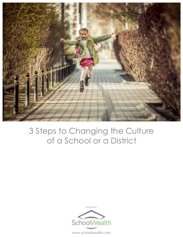 3 Steps to Changing the Culture of a School or a District Created By : www.schoolwealth.com