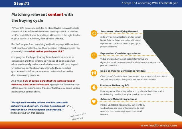 Lead Forensics Guide: 3 steps to connecting with the B2B buyer Slide 2