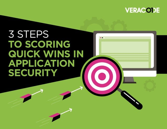 3 STEPS TO SCORING QUICK WINS IN APPLICATION SECURITY