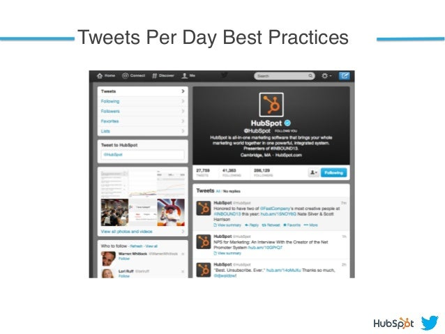 Tweets Per Day Best Practices!